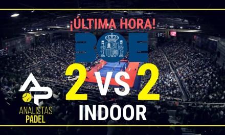 2 VS 2 Indoor permitido – Modificación BOE