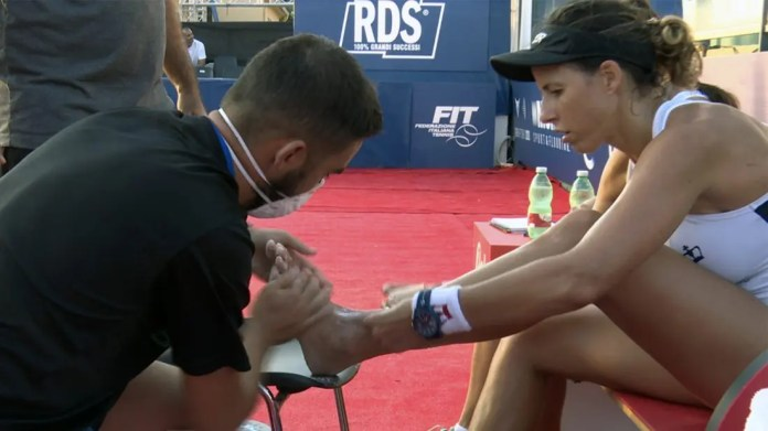 Lesión de tobillo de Marta Marrero en el Sardegna Open 2020