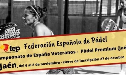 El Campeonato de España de Veteranos llega a Jaén