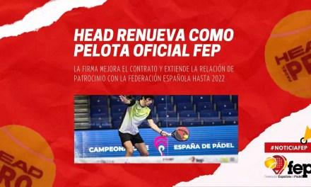 HEAD Padel Pro: Pelota Oficial de la FEP hasta 2022