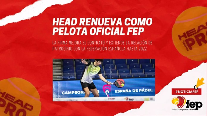 HEAD Padel Pro: la Pelota Oficial de la FEP renueva hasta 2022