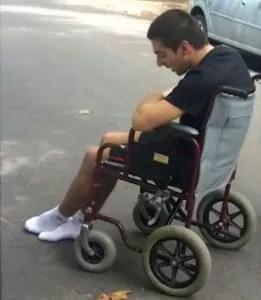 Foto: Martín durante su recuperación