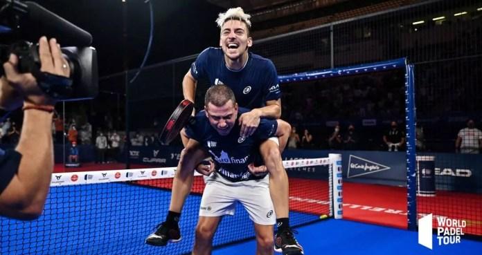 Di Nenno y Paquito, dos estrellas que brillan con fuerza en Barcelona. Foto: World Padel Tour.