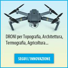 Droni per Topografia, Architettura, Termografia