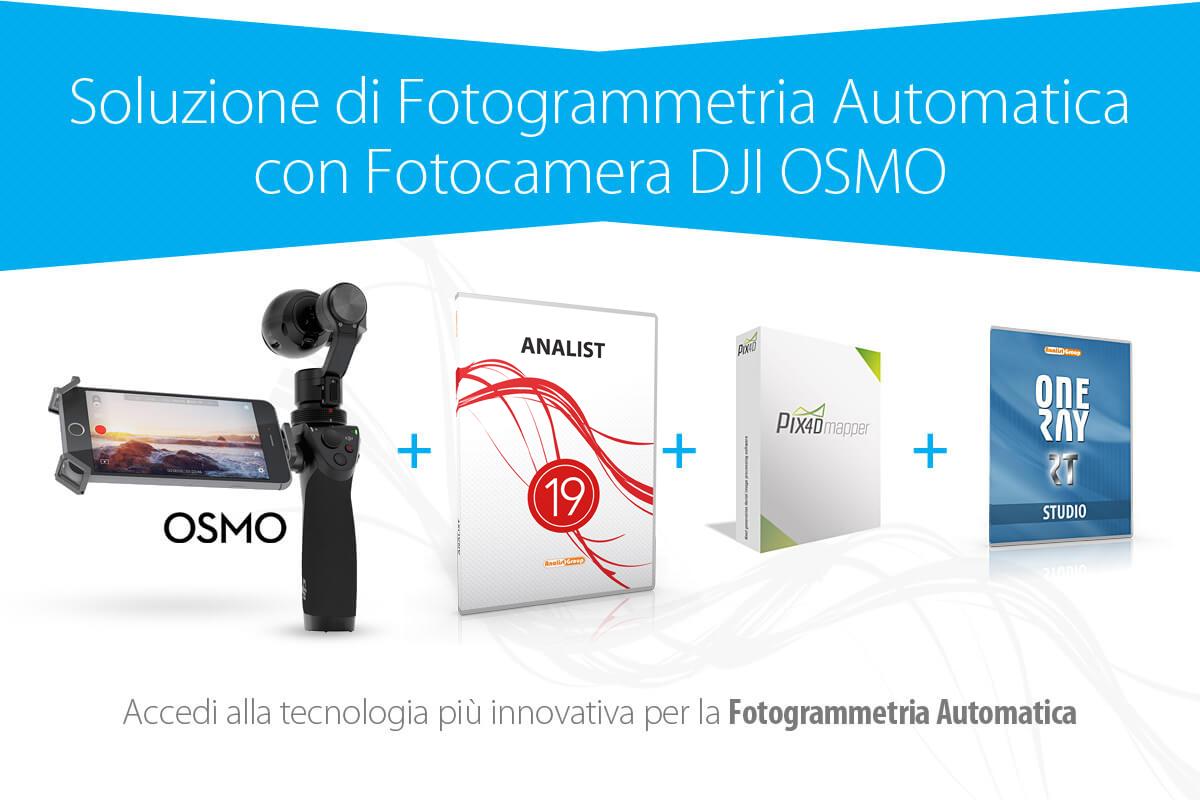 DJI Osmo e fotogrammetria automatica: la soluzione