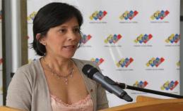 Rectora del Consejo Nacional Electoral (CNE), Sandra Oblitas / Foto: Archivo
