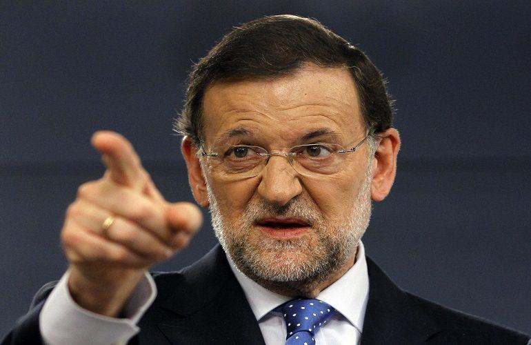Mariano Rajoy, ese índice levantado dice lo que le espera al pueblo español.