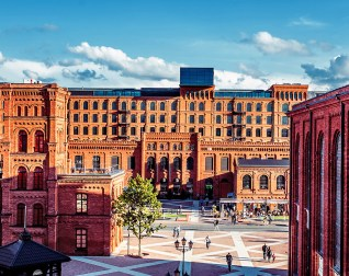 Factorías Textiles en la zona de Manufactura. Foto: www.expo2022.uml.lodz.pl