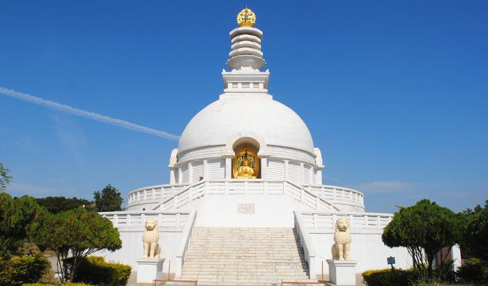 """pagoda de la paz construido en 1980, por una organización budista japonés llamada """"Los japoneses para la Paz Mundial"""""""
