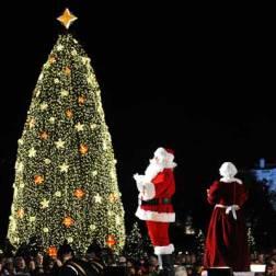 Encendido del árbol de Navidad en Washington 2009