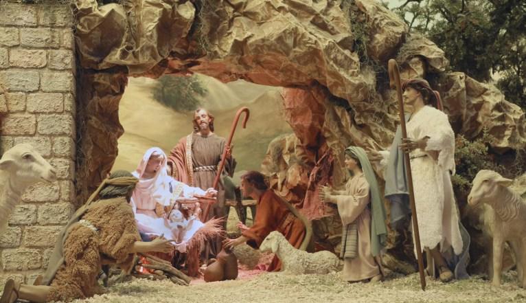 José, María y el niño Jesús son los protagonistas