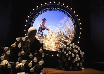 """Detalle de una instalación de la exposición """"The Pink Floyd Exhibition: Their Mortal Remains"""" en el Victoria and Albert Museum en Londres (Reino Unido). La exposición estará abierta al público del 13 de mayo al 1 de octubre de 2017/ Foto: EFE"""