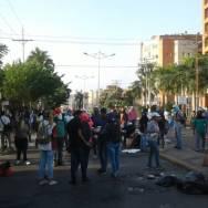 Trancan calles en protesta/Foto: Correpsonsalia