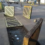Usan alcantarillas como barricadas/Foto: Correpsonsalia