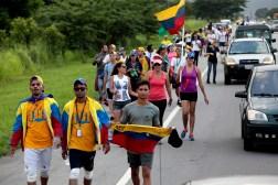 Tres días lleva la caminata de estudiantes de Lara hacia Caracas