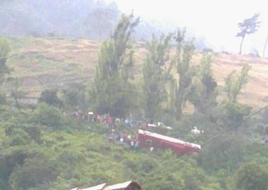 El vuelco ocurrió a eso de las 5:45 pm de este miércoles 5 de julio y fueron pobladores de la zona quienes avisaron a las autoridades del accidente