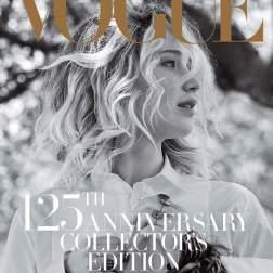 Jennifer Lawrence posa para portada del 125 aniversario de Vogue en septiembre/ Foto: John Currin