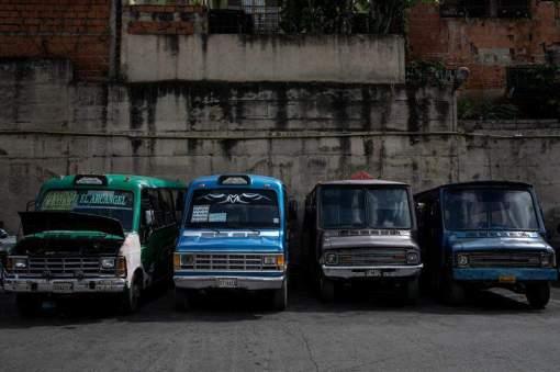 Autobuses estacionados en Venezuela