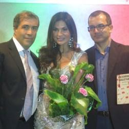 De izquierda a derecha, el embajador de Italia en Venezuela, Silvio Mignano, Caterina Valentino, y el escritor Claudio Giunta/ Foto: Albermary Aponte