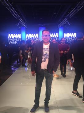 Carlos Vallenilla en el Fashion Week Miami/ Foto: Cortesía