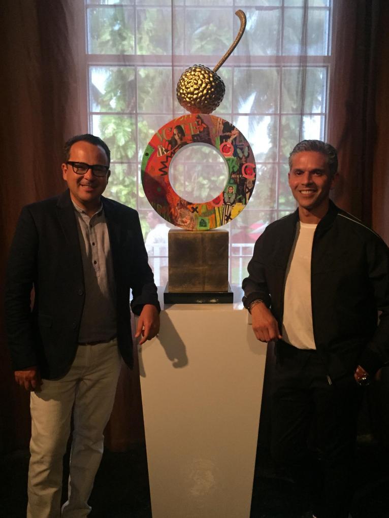 Carlos Vallenilla junto a Rodner Figueroa/ Foto: Cortesía