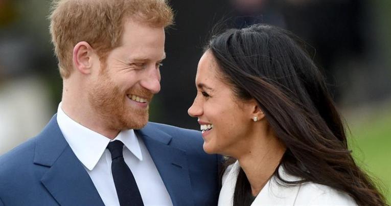 Príncipe Enrique y su prometida, la actriz Meghan Markle
