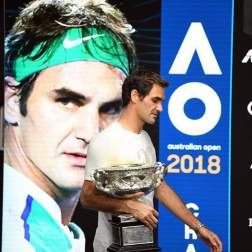 Roger Federer ganó el Australian Open Foto: EFE