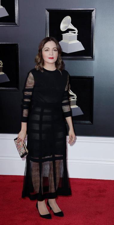 Natalia Lafourcade estuvo en la alfombra roja del Grammy