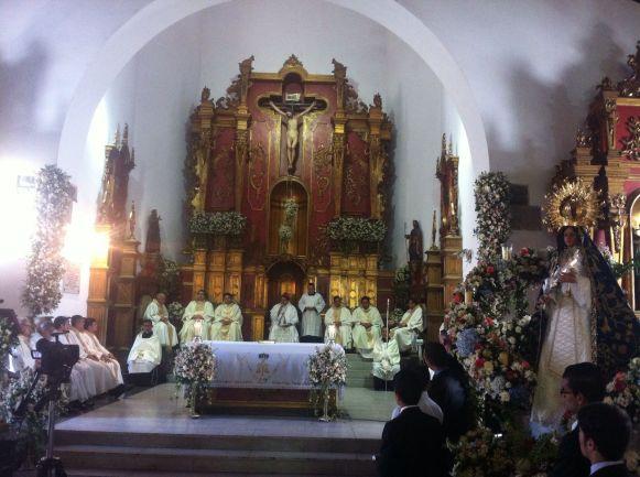 La misa fue oficiada por Monseñor José Luis Azuaje, presidente de la Conferencia Episcopal Venezolana