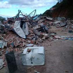 Chalet donde se escondía Pérez tras ser demolido Foto: Asamblea Nacional