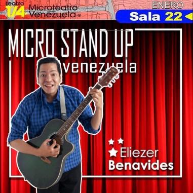 micro stand up 2 comediante Eliezer Benavides