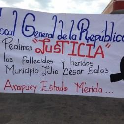 El pueblo de Arapuey, al norte del estado Mérida, exigieron justicia por sus familiares muertos y heridos en manifestaciones por comida 12