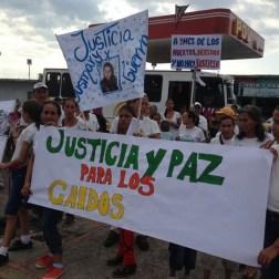 El pueblo de Arapuey, al norte del estado Mérida, exigieron justicia por sus familiares muertos y heridos en manifestaciones por comida 16