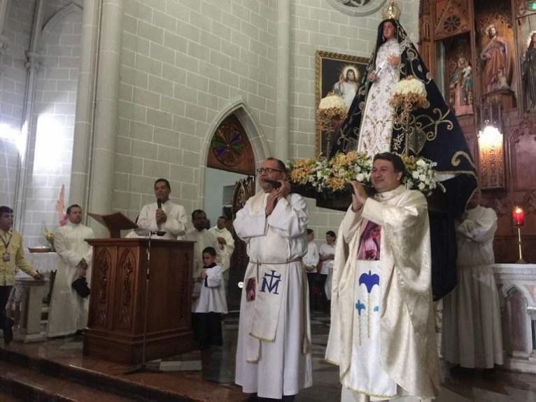 Nuestra Señora de La Paz en Valera fue recibida por el padre Waikelys Araujo en la iglesia San Juan Bautista