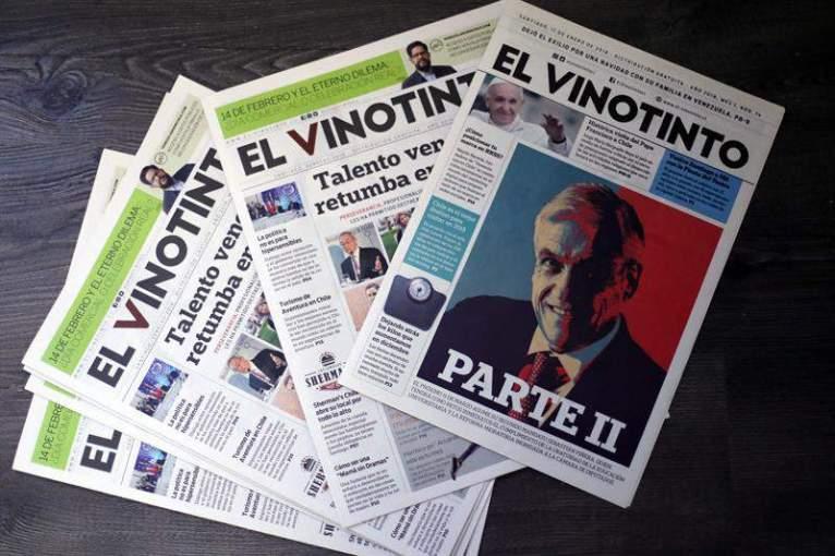 El Vinotinto, el periódico de la diáspora venezolana en Chile Foto EFE