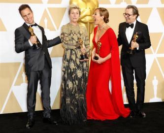 Sam Rockwell, Fracnes McDormand, Allison Janney y Gary Oldman ganaron como actores en los Premios Óscar