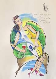"""Arte oficial del disco """"Motivos"""", diseñado por la cantante venezolana María Rivas"""