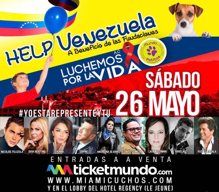 """Flyer del evento """"Help Venezuela"""""""