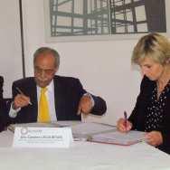 Enrique Planchart (USB) y Caroline Lecourtois (Escuela Nacional Superior de Arquitectura de París)