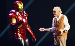 Stan Lee y Iron Man