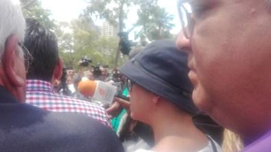 Periodistas acompañaron a Naky Soto en el MP/Foto: Desirée Álvarez