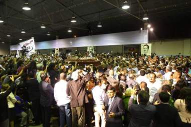 Velorio del expresidente de Perú, Alan García, en Lima. Foto: EFE