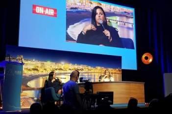 Rebeca León, manager de Rosalía, en el Midem 2019