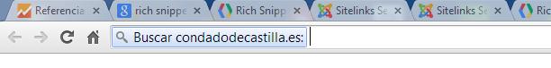 Modificación en la barra de búsqueda/navegación de Google Chrome si detecta un buscador marcado con schema.org
