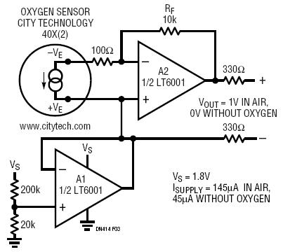 High Accuracy Oxygen Sensor Circuit Collection | Analog