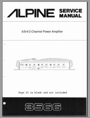Alpine 3566 Service Manual, Analog Alley Manuals