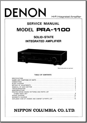 Denon PRA1100 Service Manual, Analog Alley Manuals