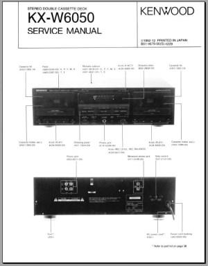 Kenwood KXW6050 Service Manual, Analog Alley Manuals