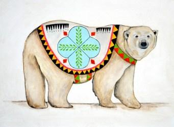 Ilustración de un oso de Lisa Congdon
