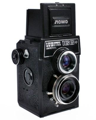 Fotografía de una cámara Lubitel 166B